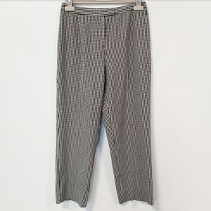 High-Waisted Vintage White&Black Gingham Trousers